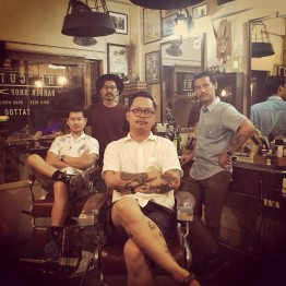 The Owner, and my barber, on the right.