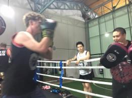 Muay Thai ring training