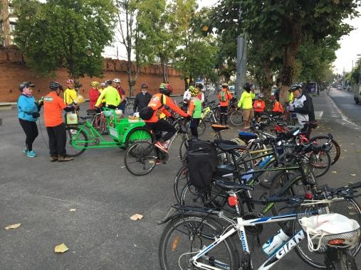 Sunday Cycling Club at Tha Phae Gate