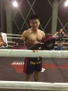 """Bank (pronounced Bang), one of my Muay Thai trainers, who watched me practice my punching skills and exclaimed in fits of laughter, """"hips too sexy!"""""""