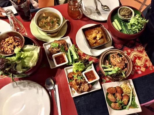 Our feast at Huen Phen