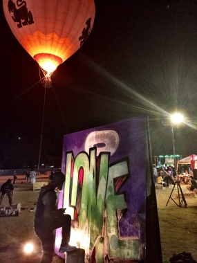 Singha balloon and graffiti art