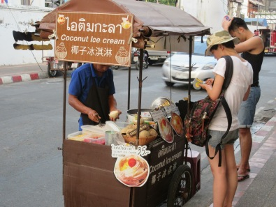 Coconut Ice Cream Street Vendor