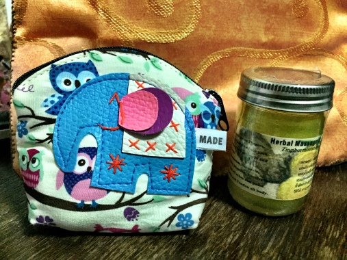 Student gift pouch and massage balm