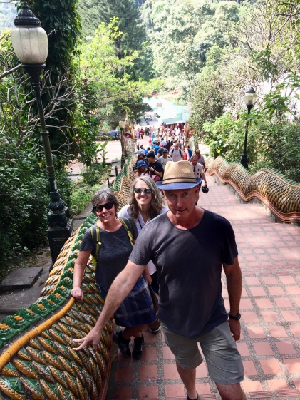 Walking the serpent stairs