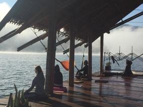 Morning meditation in Noble Silence.